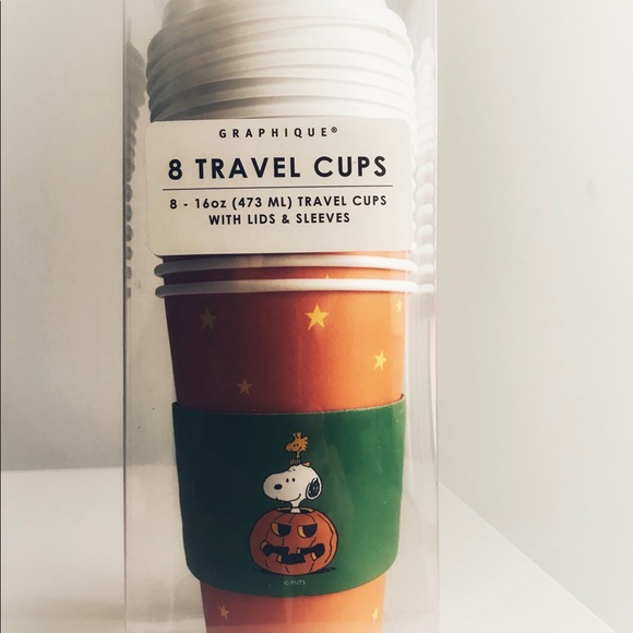 Peanuts Other - Snoopy Peanuts Halloween Travel Coffee Paper cups